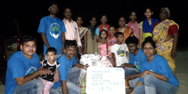 Clean up earth - Samiyarpettai Cuddalore Beach, Cuddalore District