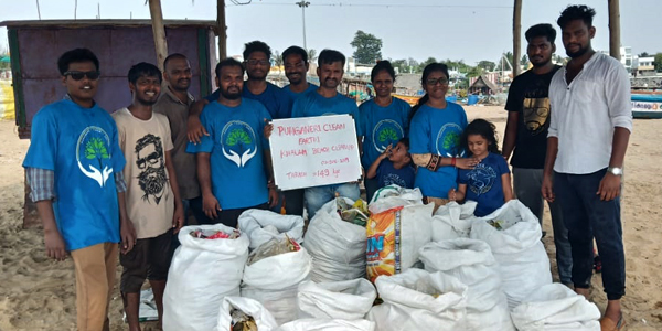 Clean up earth - Kovalam Beach, Chennai
